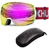 KHUNO Jaeger Snow Goggles - Toric Lens w/Luminous Refractive & VMD System Red