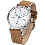 Men's Watches FEICE Bauhaus Automatic Watch Minimalist Big Face Casual Dress Watches for Men -FM202 (Brown)