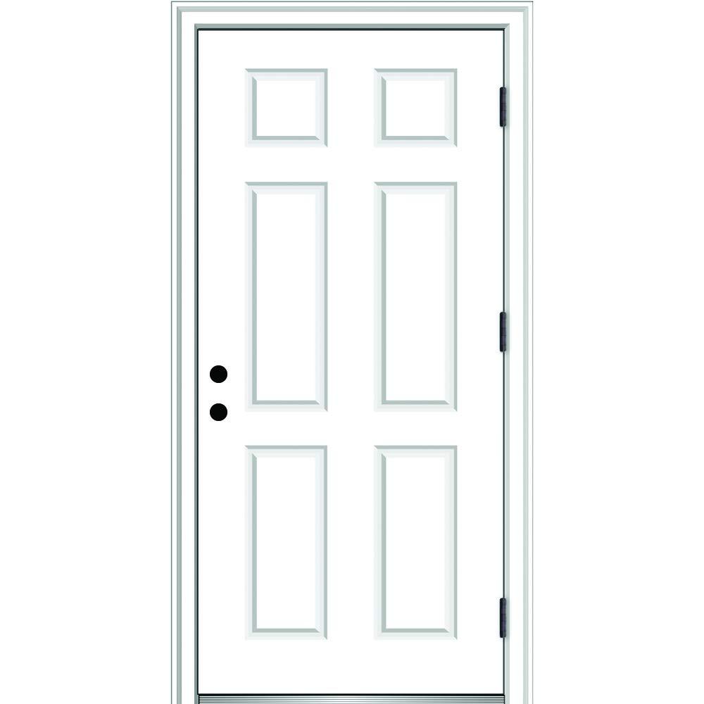 National Door Company Zz364678l Fiberglass Smooth Primed Left Hand Outswing Prehung Front Door 6 Panel 30 X 80 Amazon Com Industrial Scientific