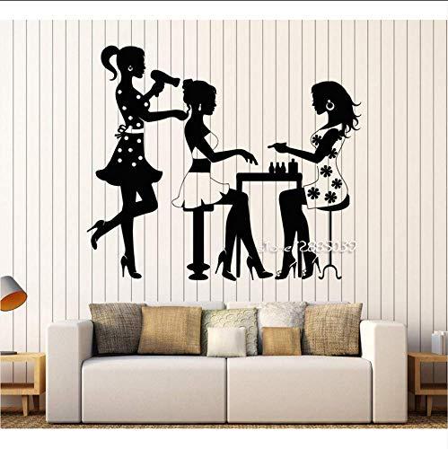 Parrucchiere Manicure Adesivi Murali Moda Per Unghie Salone Di Bellezza Modello Adesivo Per Ragazza Disponibile In Diversi Colori Wallpaper 55 * 64Cm