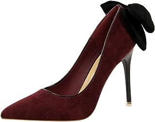Zanpa Women Fashion Pumps Stiletto Heels Bow