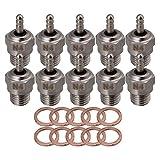 BQLZR acero Super Glow Plug RC # 4N470117motores para HSP 1: 10Paquete de 10