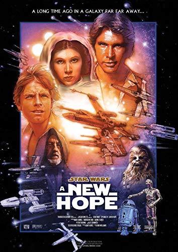 Póster de Star Wars A NEW HOPE (A3, 300 g/m²), diseño de la guerra de las galaxias