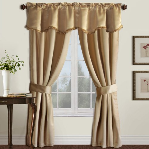 Best cheap gold 5 pc blackout curtain sets online for Where can i buy curtains online