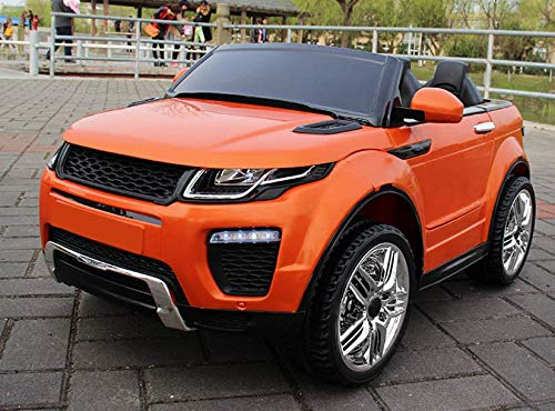 FP-TECH Auto ELETTRICA per Bambini Macchina SUV 2 POSTI 2WD 12V con Telecomando USB MP3 (Arancione)