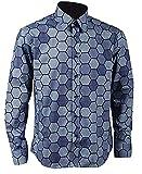 S&S-Men Mens Hexagon Shirt Knight Shirt Cosplay Costume (Medium, Blue)