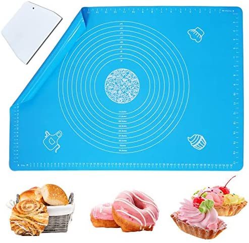 Haozcl Silicone Baking Mats For Oven Large Full Size 25 x 18 Baking Supply With Dough Scraper product image
