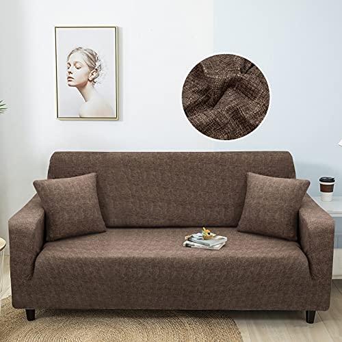 WXQY Elastischer Sofabezug, universeller Sofabezug Wohnzimmer Haustiersessel Ecksofabezug Ecksofa Chaiselongue A10 2 Sitzer
