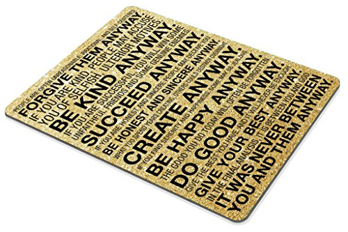 Smooffly Gaming Mouse Pad Custom,Mother Teresa Anyway Quote Mouse pad 9.5 X 7.9 Inch (240mmX200mmX3mm) Photo #4