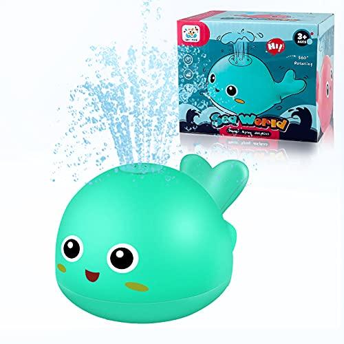 Yojoloin Badewannenspielzeug Badespielzeug Wal Badewanne Wasserspielzeug für Baby Kinder Mädchen Junge Kleinkind, Wassersprühspielzeug für Baden Pool Schwimmbad Spielzeug