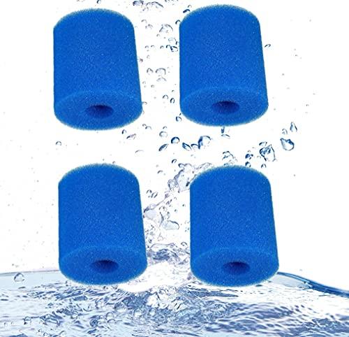 XIAOBUDIAN pour filtres de Piscine en éponge de Type H,Générique Cartouches de Remplacement Filtration pour Intex Filtre Piscine Cartouche de Filtre éponge pour Intex Type H pour Spa (Lot de 4)