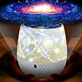 KISTRA Night Lights for Kids with LED Timer, 360°Rotating Projector Night Lighting Lamps for Indoor Bedrooms, Best Gift for Baby
