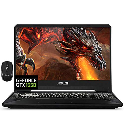 2021 Flagship Asus TUF FX505GT 15 Gaming Laptop 15.6' FHD IPS 144Hz Display Intel Hexa-Core i7-9750H 16GB DDR4 512GB SSD GTX 1650 4GB Webcam DTS RGB Backlit WiFi HDMI Win 10 + iCarp Wireless Mouse
