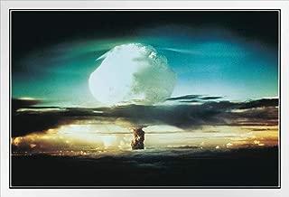 Nuclear Bomb Test Bikini Atoll and Enewetak 1952 Photo Photograph White Wood Framed Poster 20x14