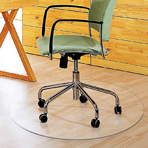 Non-Slip Chair Mat, PVC Clear Soft Glass Floor Mat Computer Chair Hard Floor Protection Pad-90x90Cm(35x35Inch)-Clear