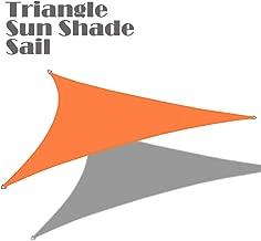 Alion Home 16'5'' x 16'5''x 16'5'' Triangle Waterproof Woven Sun Shade Sail in Vibrant Colors (Tangerine Orange)