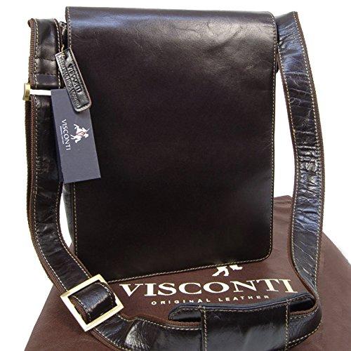 Visconti Big Leather Organiser Messenger Bag 18410 Jasper