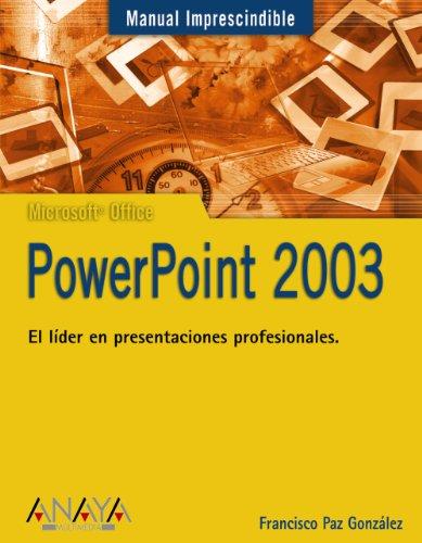PowerPoint 2003 (Manuales Imprescindibles)