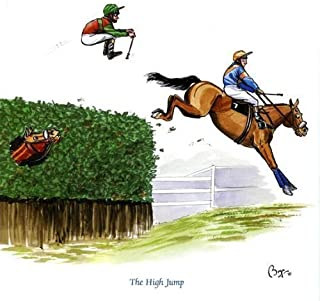 The High Jump Greeting Card for people who like horses, racing and riding