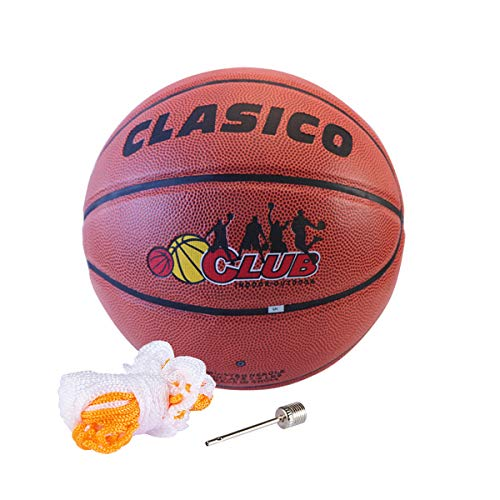 Buy Bargain CLASICO Training & Recreation Basketball PU Size 7 with Free Carrying Net Bag &Needle fo...