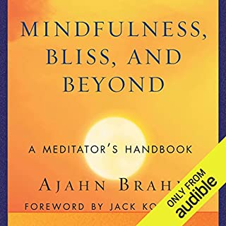 Mindfulness, Bliss, and Beyond     A Meditator's Handbook              By:                                                                                                                                 Ajahn Brahm                               Narrated by:                                                                                                                                 Peter Wickham                      Length: 10 hrs and 41 mins     9 ratings     Overall 4.3