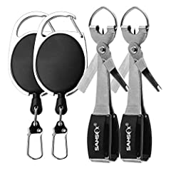 2 sets quick knot tying tool combo, 2 pieces fishing line clippers, 2 pieces fishing zinger retractors & user manual Durable 420 stainless steel construction tools, 4 in 1 design consolidates gear into one easy to useful fast knot tying tool Multi-fu...