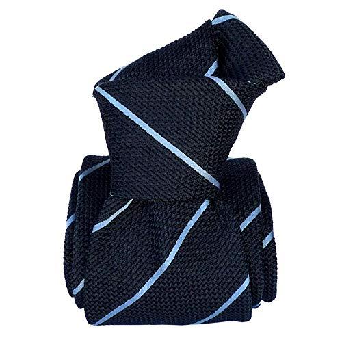 Segni et Disegni - Cravate Grenadine De Soie, Segni & Disegni, Trévise Bleu