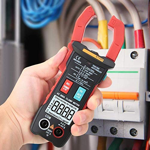 ZJN-JN Pinza multímetro digital, ST205 4000 cuentas completa inteligente rango de verdadero valor eficaz medidor digital for equipos eléctricos de prueba y mantenimiento automático (rojo) Pruebas eléc
