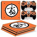 PS4 Pro - Juego Completo De Pegatinas De Piel con Patrón De Anime para Piel De Consola + 2 Pegatinas De Controlador, Compatible con PS4 Pro Y Ps4 Pro Película Protectora De Controlador,1077