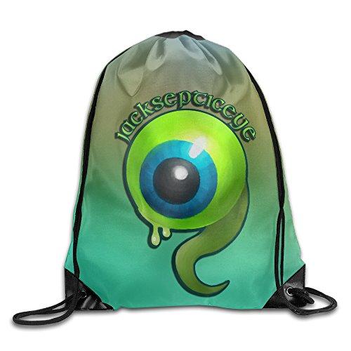 Drawstring Tote Backpack Bag Jacksepticeye Eyeball Rock Punk
