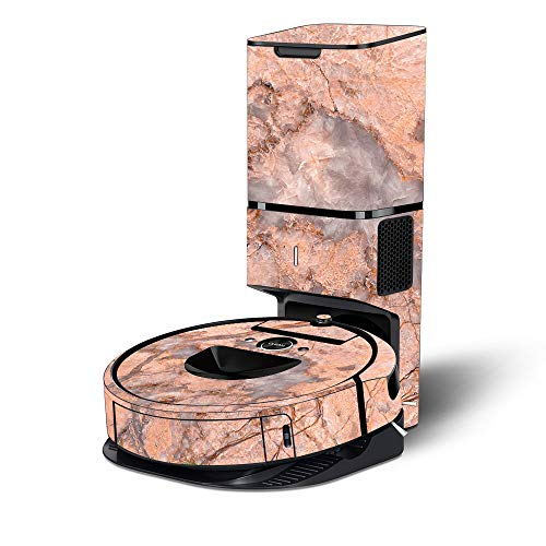 Find Bargain MightySkins Skin Compatible with Roomba i7+ Robot with Tower Coverage - Blush Marble | ...