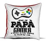 quickgadget Idea Arredo Casa Regalo Cuscino Festa del papà, Compleanno, Sono Un papà Gamer…