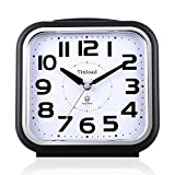 5.5' Silent Analog Alarm Clock Non Ticking, Gentle Wake, Beep...