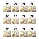 ナチュラル オーガニックタオル&ハチミツ配合入浴剤2点セット 景品 記念品 挨拶品 プチギフト 個包装 かわいいパッケージ (03 12個セット)