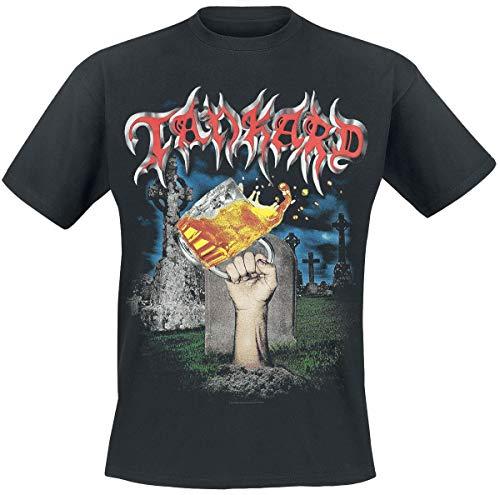 Tankard Die with A Beer Männer T-Shirt schwarz XL, 100% Baumwolle, Band-Merch, Bands