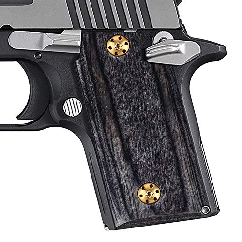 Cool Hand High Polished Wood Grips for Sig Sauer P238, Free Screws Included, H3N-S-GW