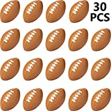 30 Packs Mini Football Sports Stress Ball, Mini Foam Sports Ball, Foam Sports Ball for School Carnival Reward, Chrismas Party Bag Gift Fillers (Football, 30 Packs)