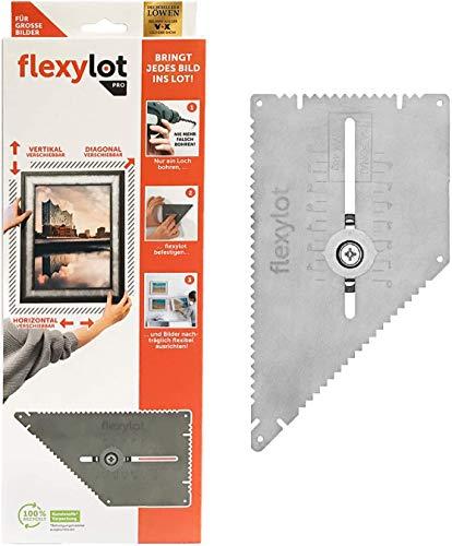 flexylot Bildaufhänger - 1x Pro | Ideal für große und schwere Bilder bis 12 kg | Nachträglich flexibel ausrichtbar | Für nahezu alle handelsüblichen Rahmen & Bilder