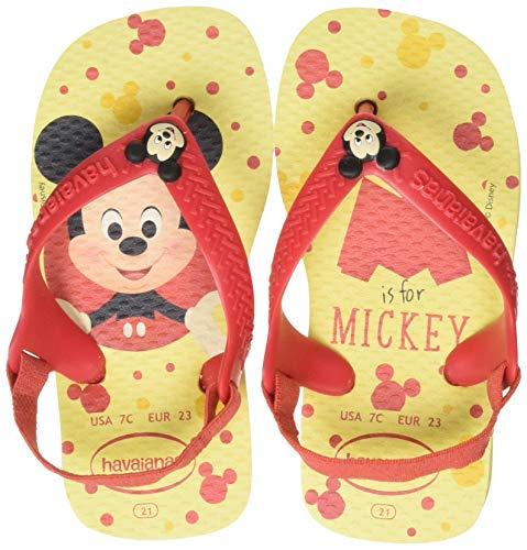 Havaianas Unisex Baby Disney Classic Ii Sandalen, Mehrfarbig (Lemon Yellow 7598), 23/24 EU