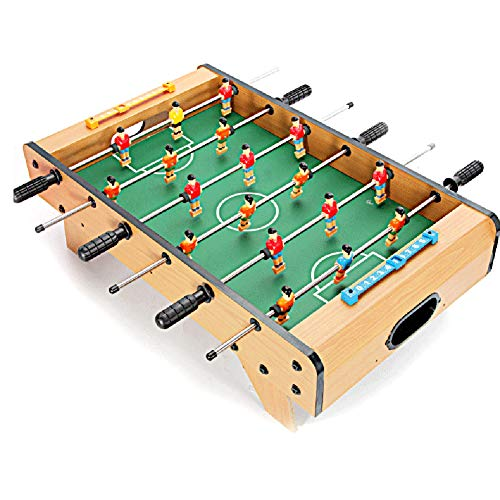 Save %23 Now! softneco Wooden Foosball Table Game with 2 Balls,Fun Tabletop Soccer Game for Home Recreational Party,Portable Football Table for Kids C 6839.521cm