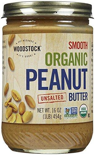 WOODSTOCK Organic Peanut Butter No Salt Portland Mall Smooth Pack In stock of Siz 3