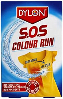 Dylon S.O.S Color Run Powder with PH Balanced Color Safe Formula, Removes Stains, Restores Original Colors, Easy to Use, Pack of 6