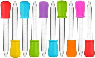 10 Piezas Graduadas de Líquido Claro de 5 ML Graduadas, CKANDAY Pipetas de Plástico y Silicona Multicolores con Punta de Bombilla para Aceite de Caramelo Cocina Niños Fabricación de Goma