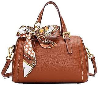 Fine Bag/Handbag Leather Handbag Retro Handbag Fashion Messenger Bag Large Capacity Shoulder Bag Portable (Color : Brown, Size : 26 * 15 * 19cm)