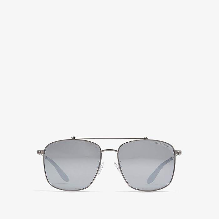 Alexander McQueen  AM0124SK (Dark Ruthenium/Silver) Fashion Sunglasses