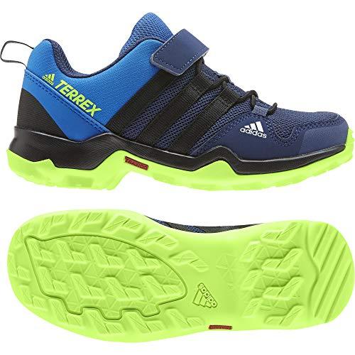 adidas Unisex-Child Terrex AX2R CF K Trail Running Shoe, bleu ciel/Noir/vert VIF