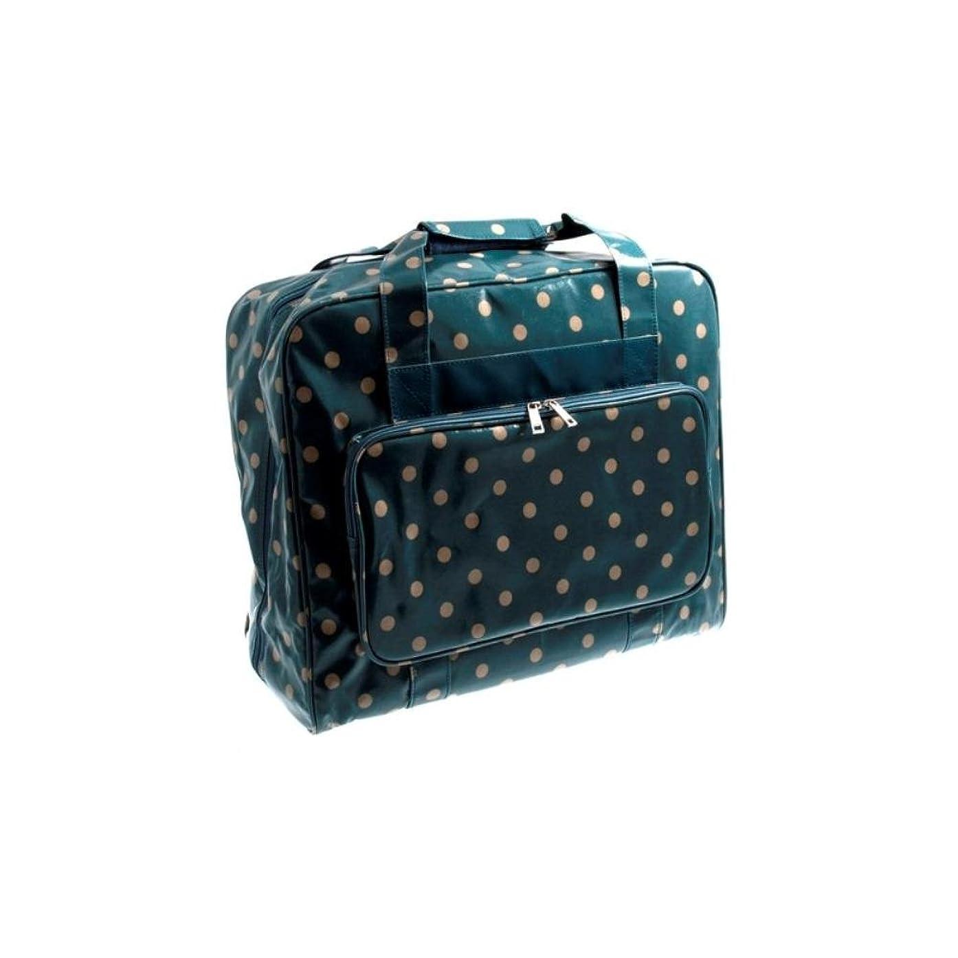 Hobbygift Sewing Machine Bag Vintage Blue Polka Dots Crafts Storage