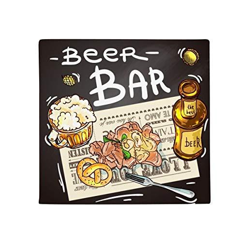 DIYthinker Bier Bar Gourmet Brot Frankreich Anti-Rutsch Boden Pet Matte quadratisch Home Kitchen Tür 80cm Geschenk