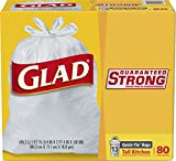 Glad Tall Kitchen Quick-Tie Trash Bags - 13 Gallon White Trash Bag – 80 Ct (Package May Vary)