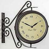 Primrose Reloj/Termómetro Giratorio con Soporte para el Jardín - 31.5cm